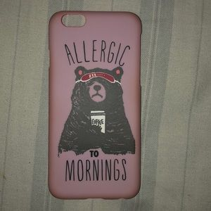 iPhone 6 Allergic To Mornings Case